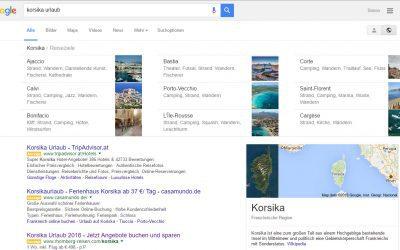 Google Suche nach Reisen und Urlaubs-Destinationen zeigt jetzt Infos zu Städten und Regionen direkt im Suchergebnis