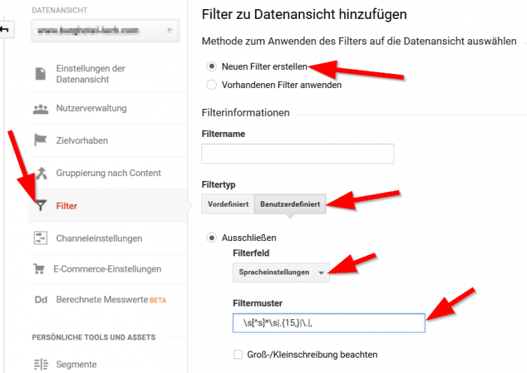 analytics-spracheinstellungen-filter