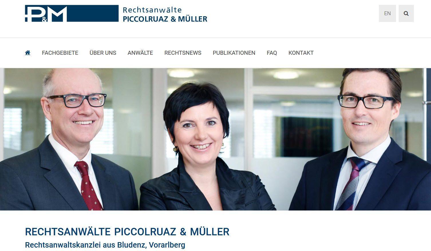 Rechtsanwälte PICCOLRUAZ & MÜLLER Bludenz