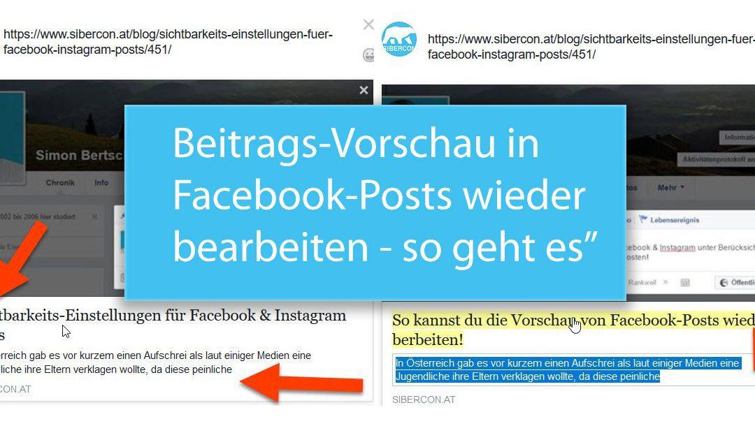 Sie können Ihre Links zu Beiträgen auf Facebook nicht mehr bearbeiten? So geht es wieder!