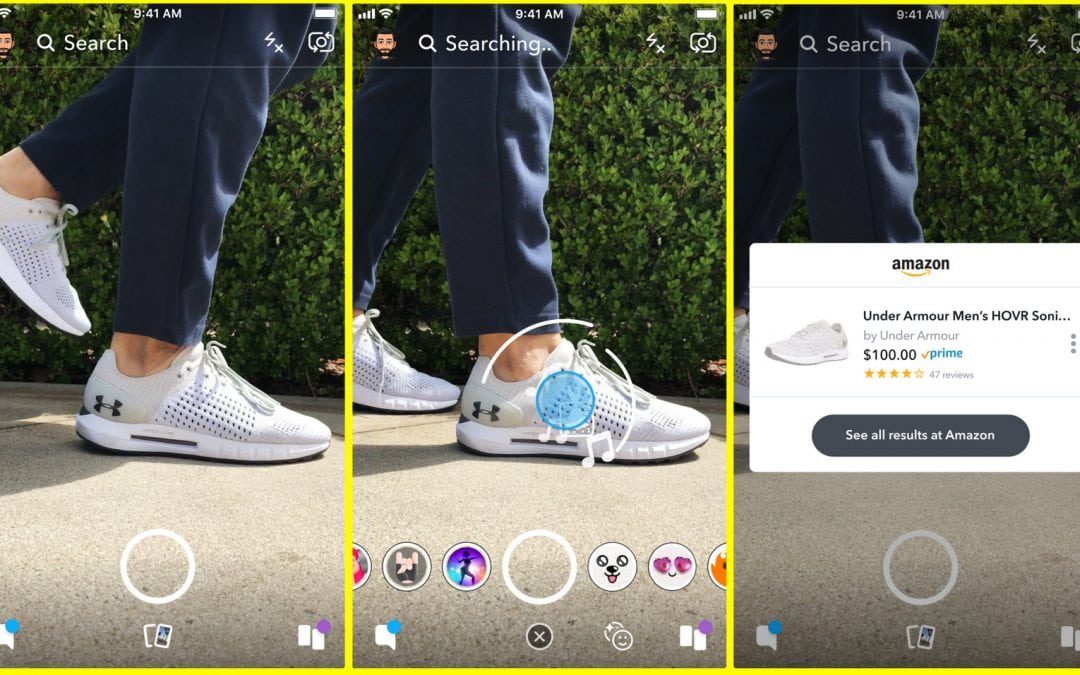 Snapchat Kamera scannt deine Fotos nach Produkten auf Amazon! Durchbruch für Visual Search?