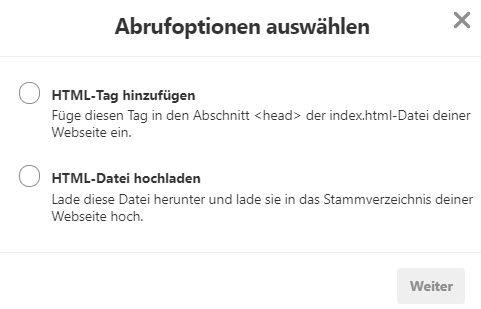 Pinterest Verifizierung_Sibercon GmbH