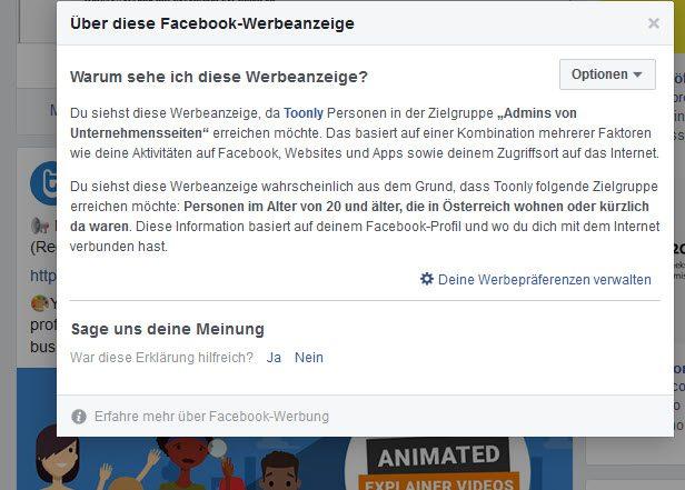 Warum sehe ich bestimmte Facebook Werbeanzeigen - So finden Sie es heraus
